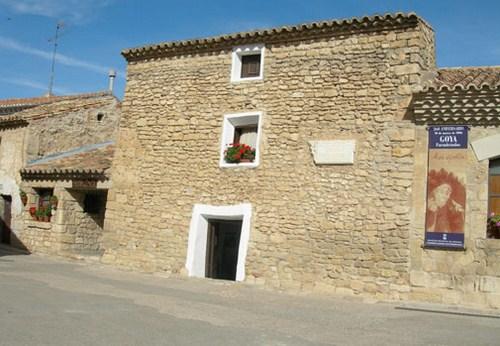 casa en donde vivió Francisco de Goya en Fuendetodos