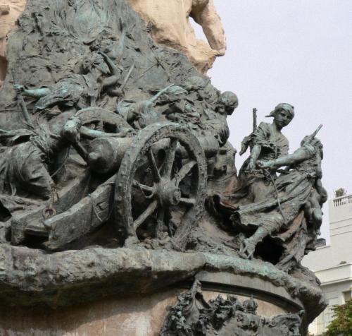es escenas conmovedoras en el monumento