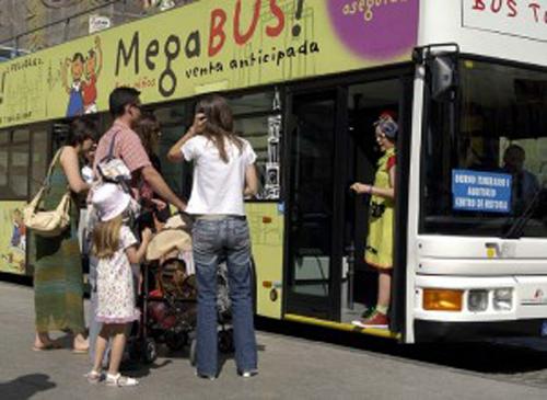 Bus turistico para niños en Zaragoza