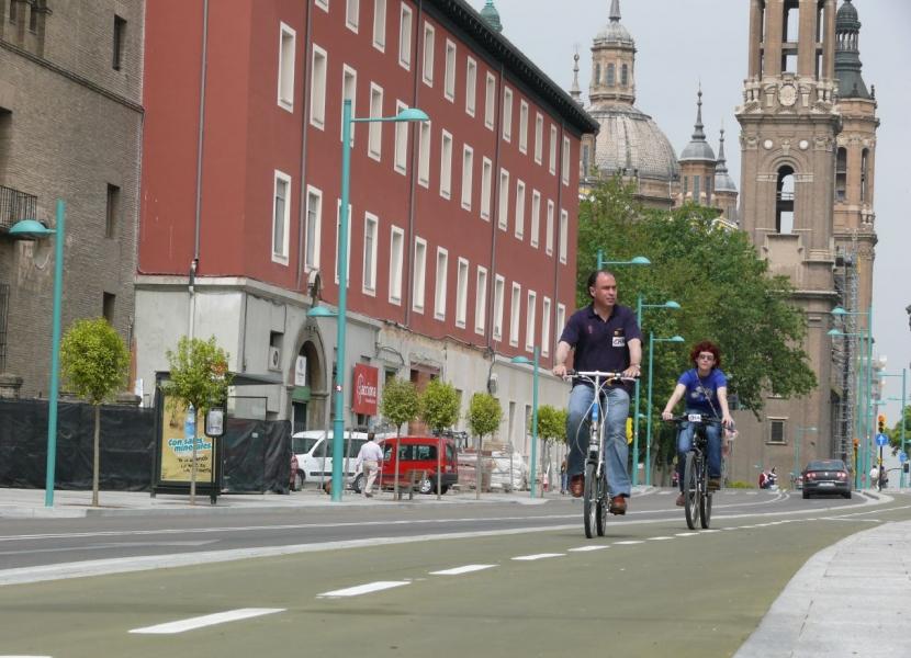 El magnífico carril bici de Zaragoza